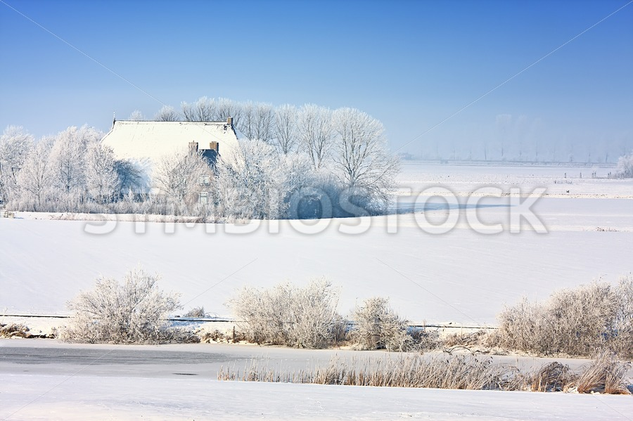 Winter Snowy Farm - Jan Brons Stock Images