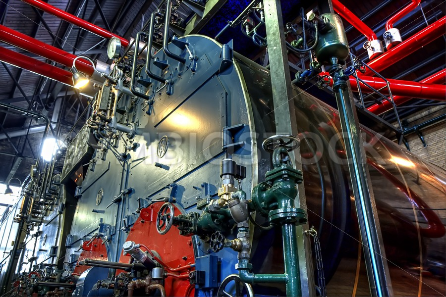Woudagemaal steam boiler. - Jan Brons Stock Images
