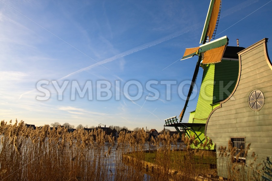 Zaanse schans Dutch windmill - Jan Brons Stock Images