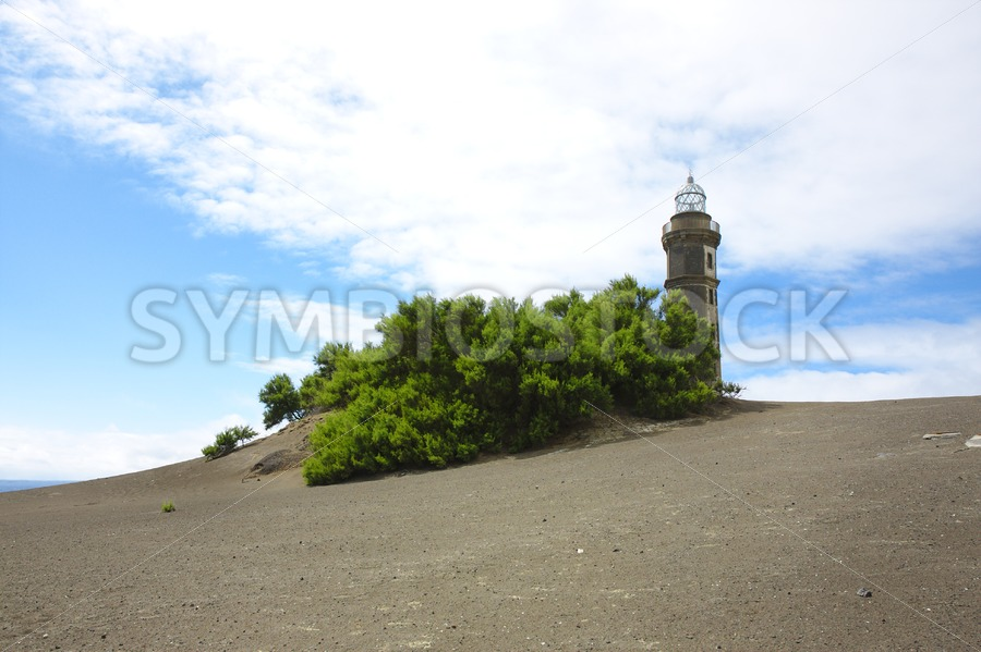 Lava landscape lighthouse
