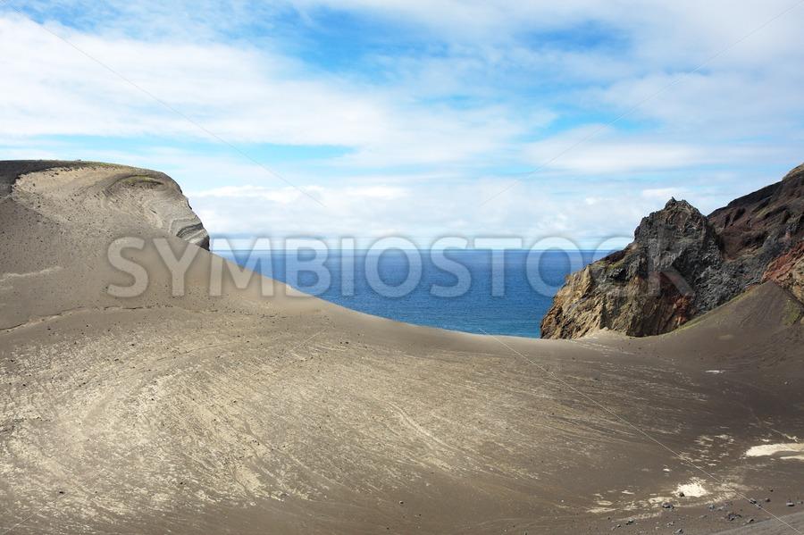 Lava landscape ocean view - Jan Brons Stock Images