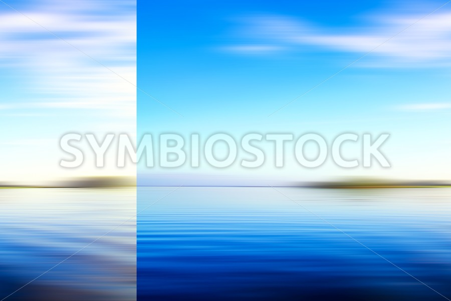 Blue abstract seascape - Jan Brons Stock Images