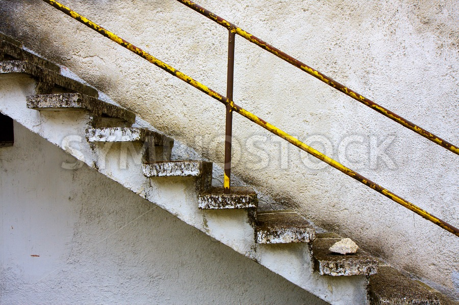 Concrete stair grunge wall