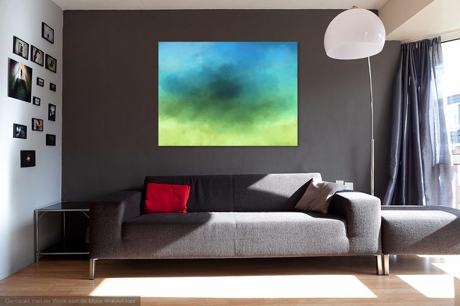 Geel groen blauw Bruin kamer