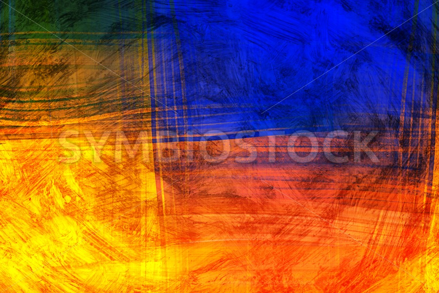 Red Blue Scratch - Jan Brons Stock Images