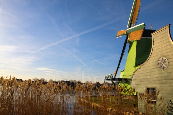 Zaanse schans dutch windmill