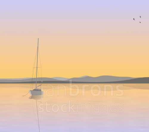 Sailboat Anchored - promotion