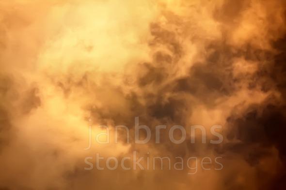 Inside cloud flames