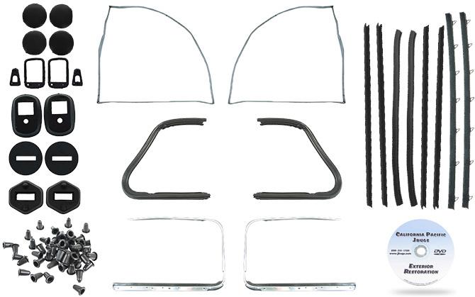 VW Door Rubber Kit, Brazilian Seals, Beetle Sedan 1960