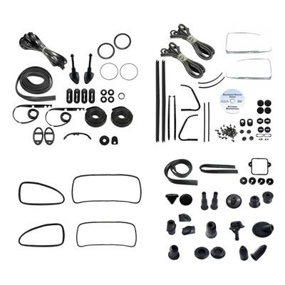 VW Complete Car Rubber Kit, Cal-Look, Beetle Sedan 1966