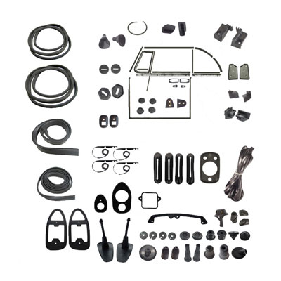 VW Complete Car Rubber Kit, Cal-Look, Super Beetle