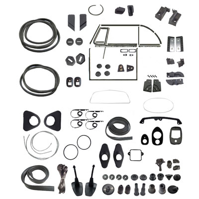 VW Complete Car Rubber Kit, American Style, Super Beetle