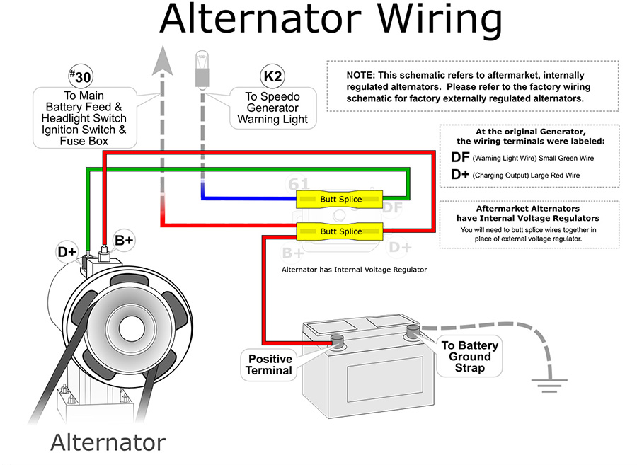 1974 vw bus alternator wiring