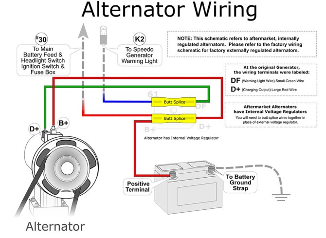 one wire alternator wiring vw  wiring diagram solidshort