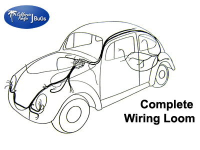 VW Complete Wiring Kit, Beetle Sedan 1954-1955: VW Parts