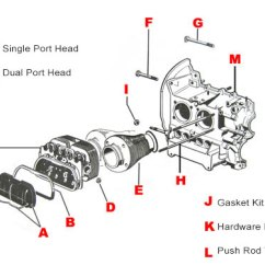 Vw 1600 Engine Diagram Eardrum And Brain Parts 1300cc 1600cc Engines Jbugs Click On Letter Below For Link To Item