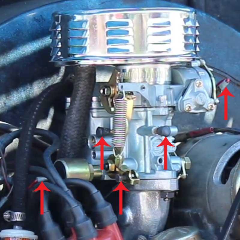 carburetor vacuum line diagram ring topology & intake manifold installation: vw parts | jbugs.com