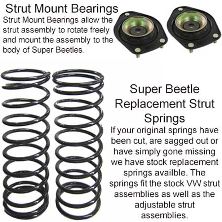 Front Suspension Rebuild Kit, Super Beetle 1975-1979: VW