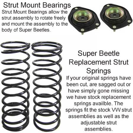 Front Suspension Rebuild Kit, Super Beetle 1973.5-1974: VW