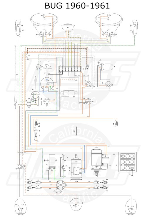small resolution of vw tech article 1960 61 wiring diagram 1960 vw bus fuse box