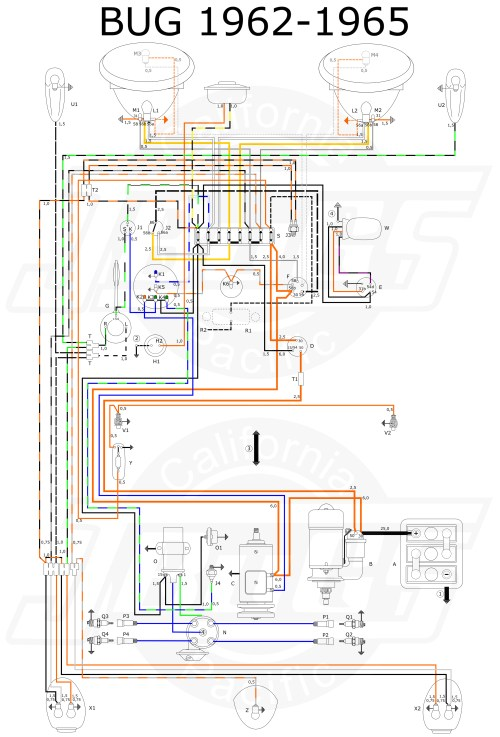 small resolution of vw beetle 1962 65 wiring