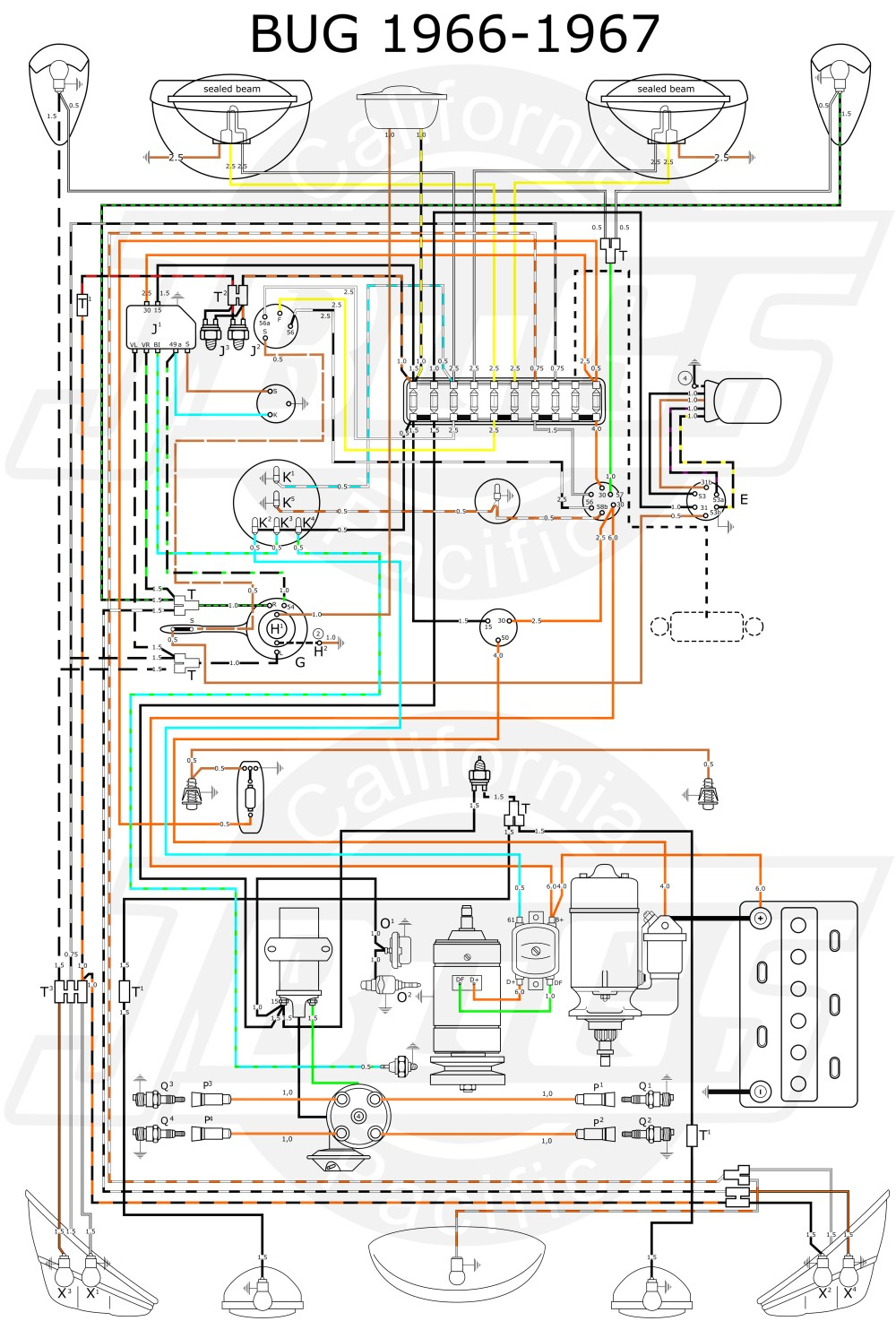 medium resolution of 1967 vw wiring diagram wiring diagram sheet 1967 vw bug headlight switch wiring