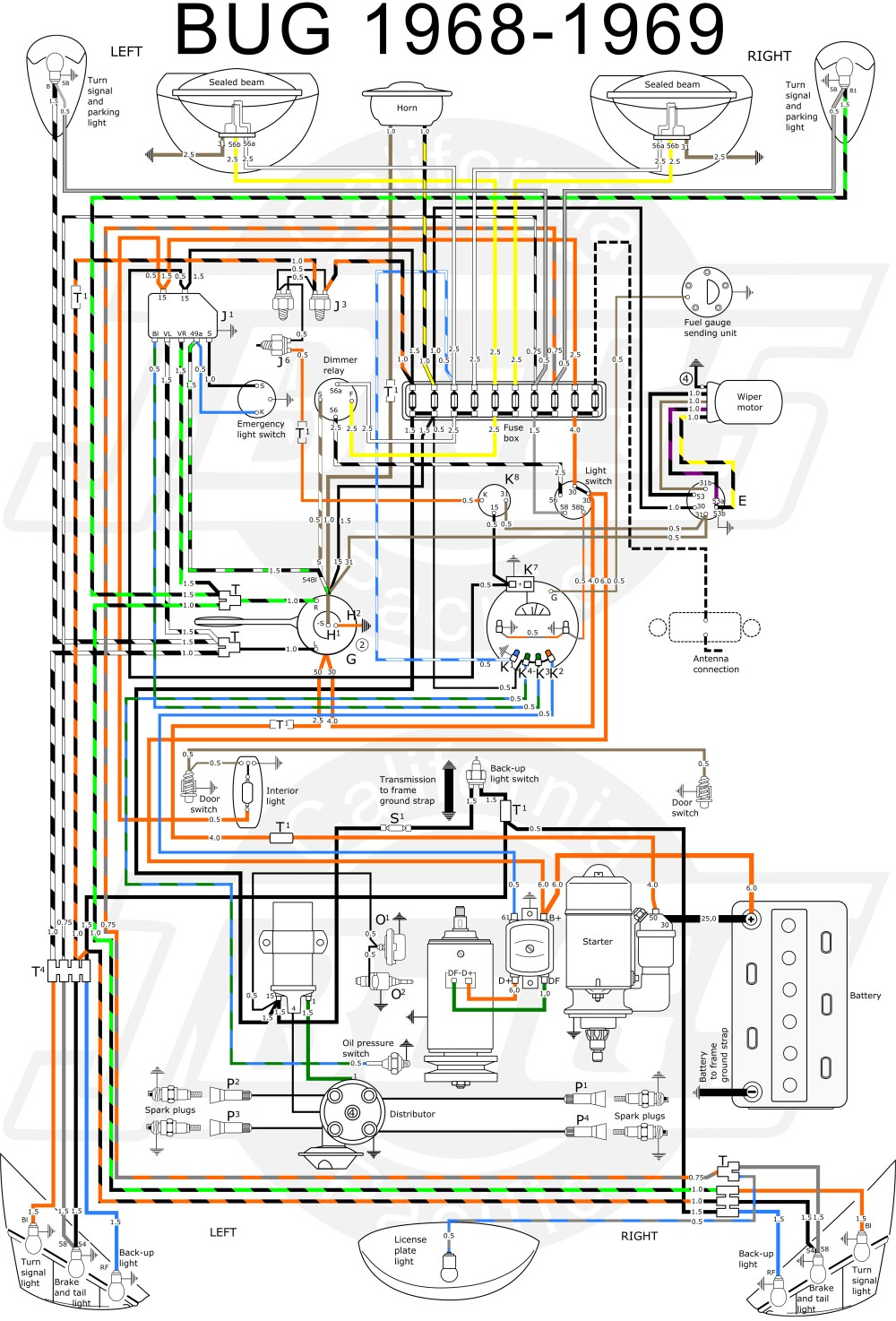 medium resolution of vw type 3 wiring harness diagram wiring diagram toolbox 69 vw type 3 fuse box wiring