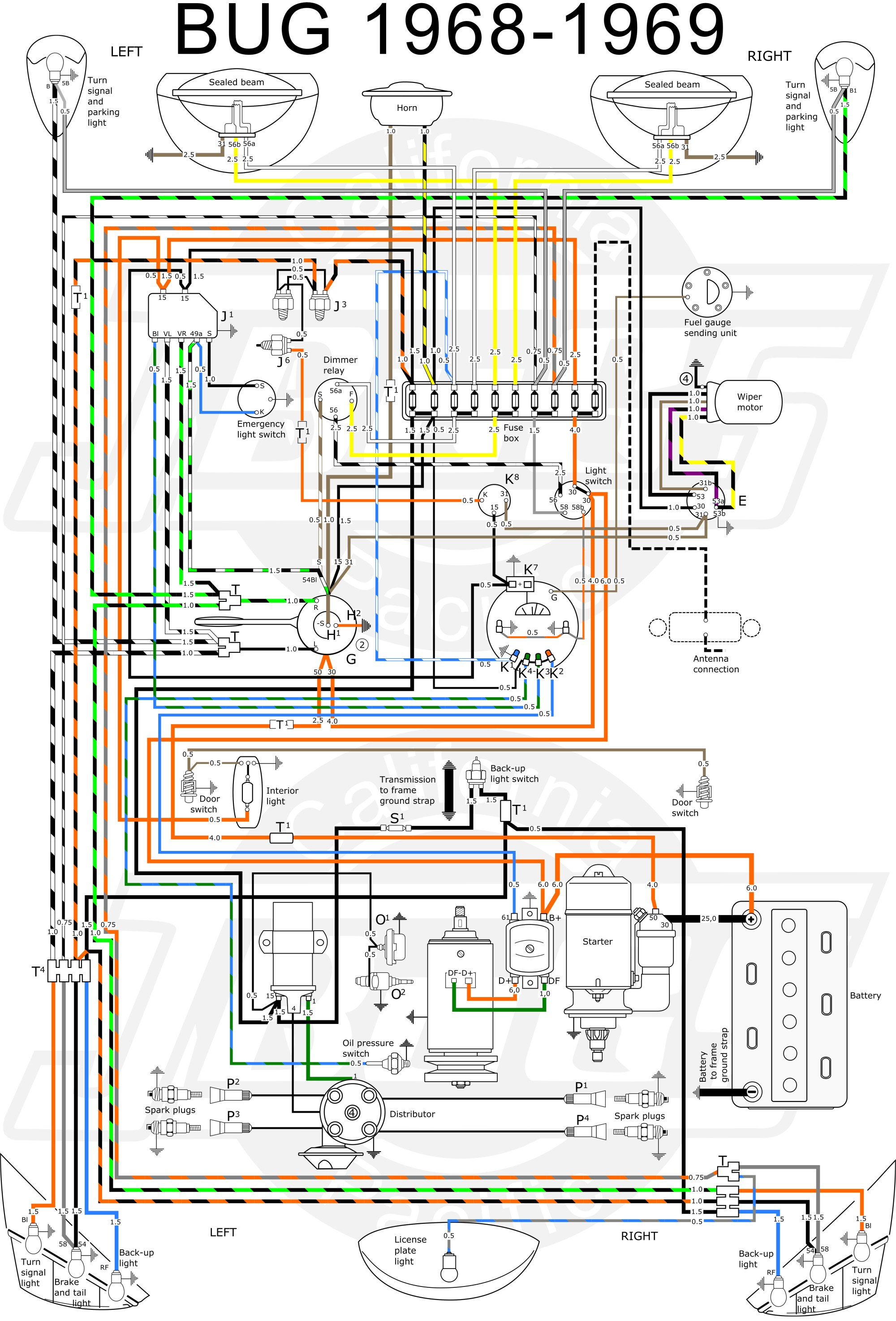 hight resolution of 1968 vw bug wiring diagram wiring diagram post 68 vw bug fuse diagram
