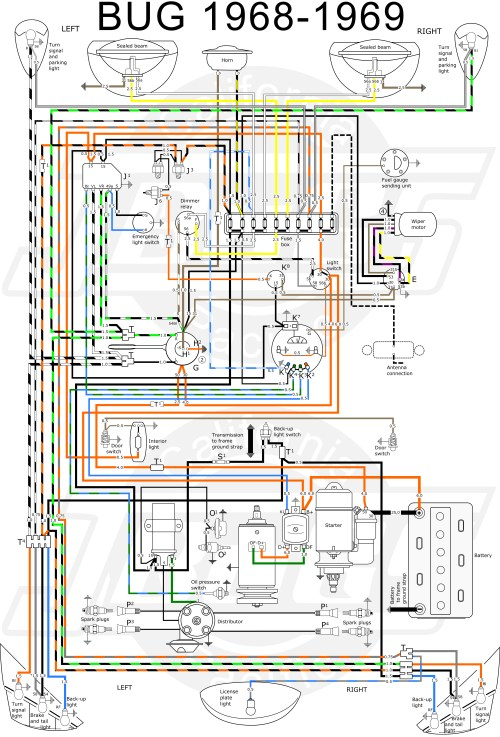 small resolution of 1968 vw bug wiring diagram wiring diagram post 68 vw bug fuse diagram
