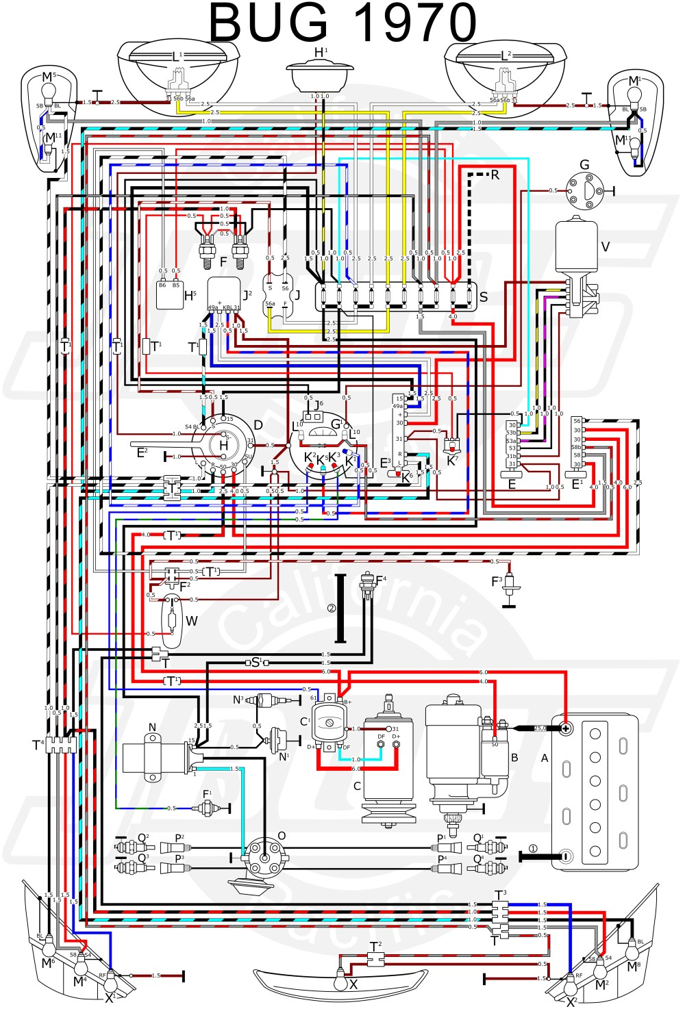 medium resolution of 1970 vw bug distributor wiring wiring diagram option coil wiring diagram for 1970 volkswagen