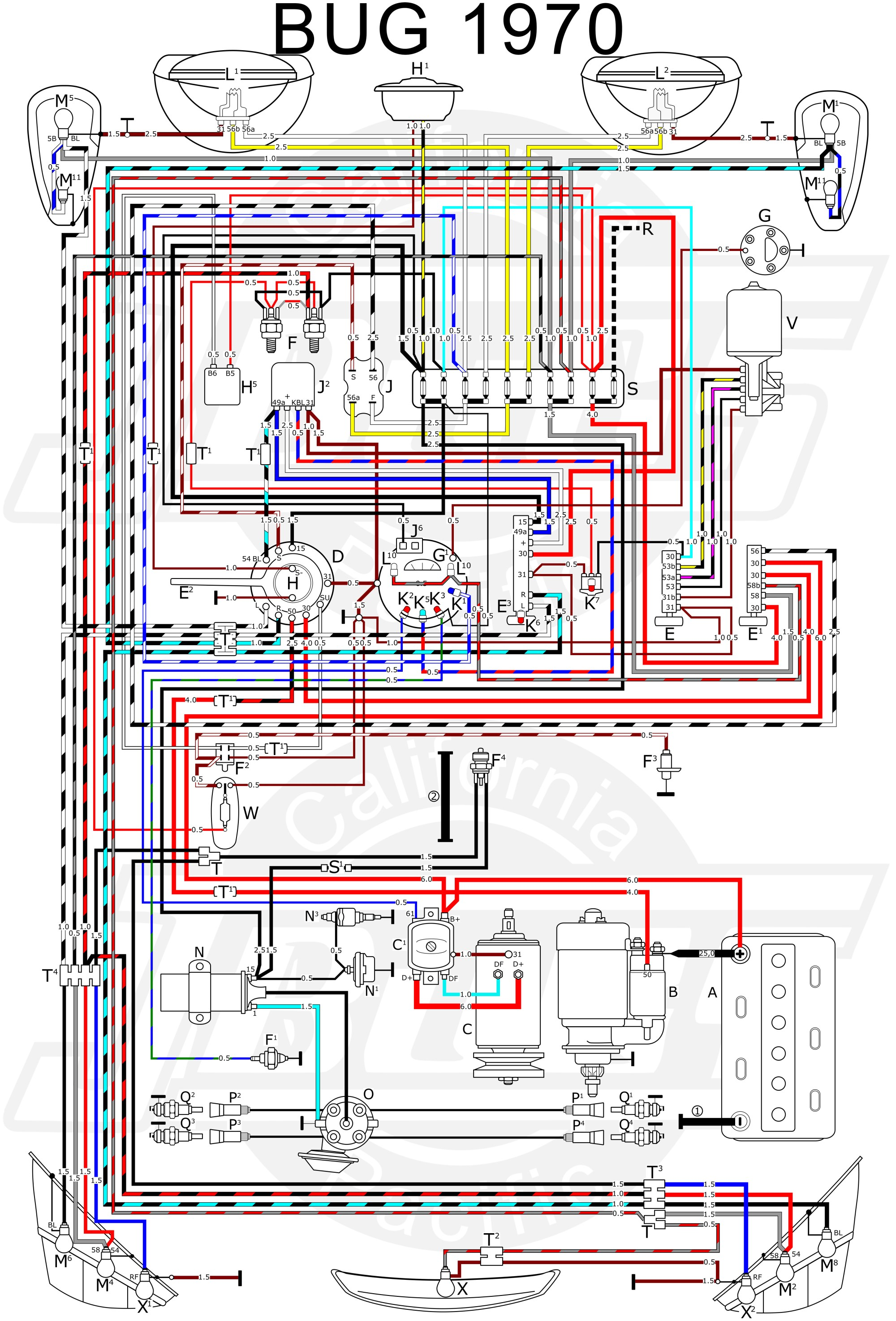 hight resolution of 1974 super beetle fuse box diagram