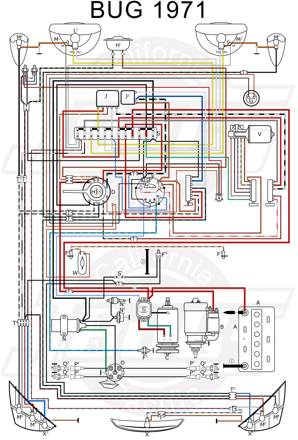 medium resolution of vw tech article 1971 wiring diagram