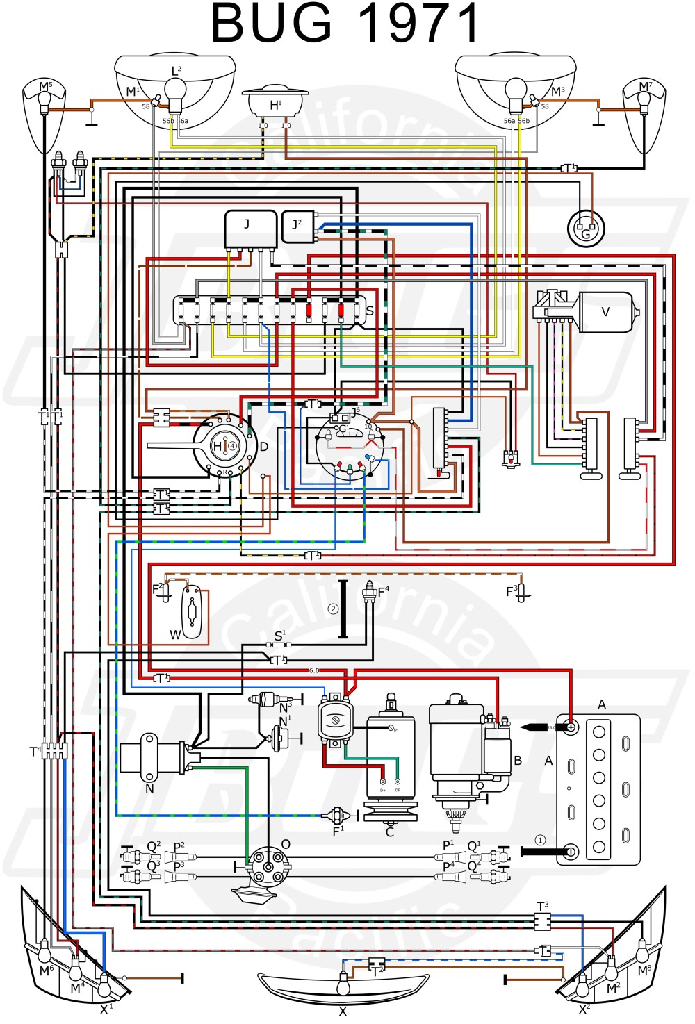 medium resolution of 1970 vw beetle wiring schematic schema wiring diagram online vanagon wiring diagram 1970 bug wiring diagram