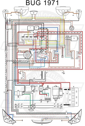 VW Tech Article 1971 Wiring Diagram