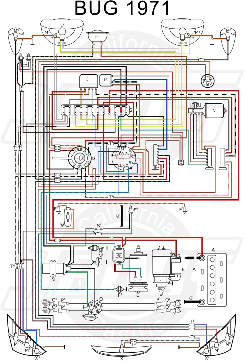 small resolution of vw tech article 1971 wiring diagram