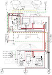 Fuel Gauge Wiring Diagram For Vw Trike Vintage Vw Wiring Diagrams
