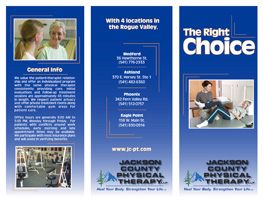 Brochures – Jackson County Physical Therapy