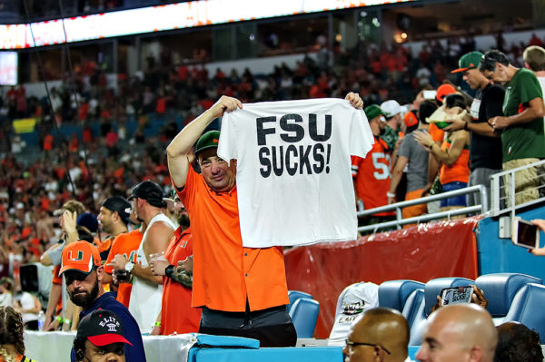 A Miami fans lets people know what he thinks about FSU