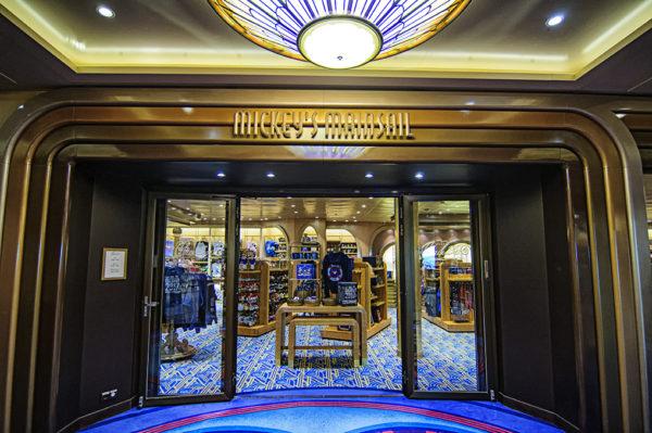 Disney merchandise store on Deck 4 of the Disney Magic