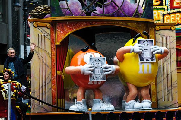 M&M macys thanksgiving day parade