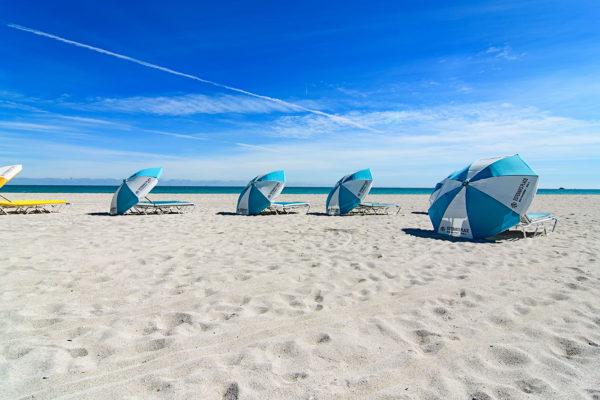 South Beach beach umbrellas