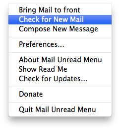 Mail Unread Menu mac