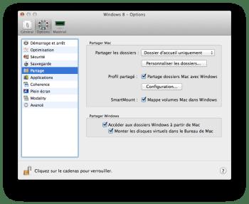 Parallels Desktop 10 partage