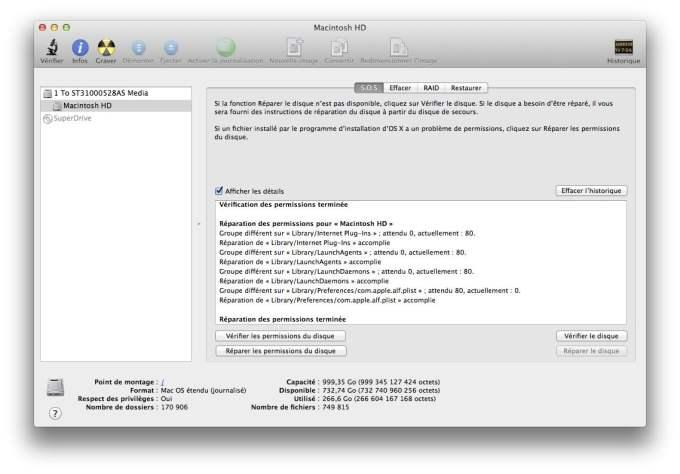 Vérifier et réparer le disque de son Mac Mountain Lion verifier et reparer permissions