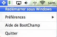 BootChamp choisir boot mac