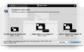exporter capture ecran vers apple tv
