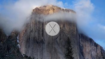 Yosemite wallpaper el capitan avec logo x