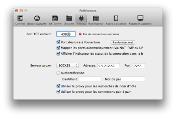 proxy reglages utorrent