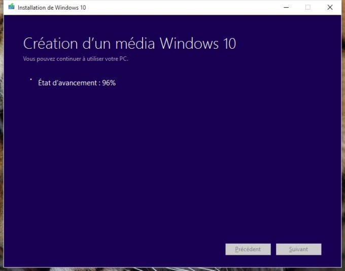 usb windows 10 creation media