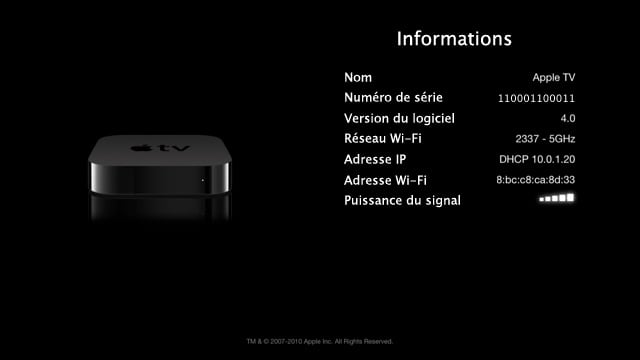 numero de serie apple tv